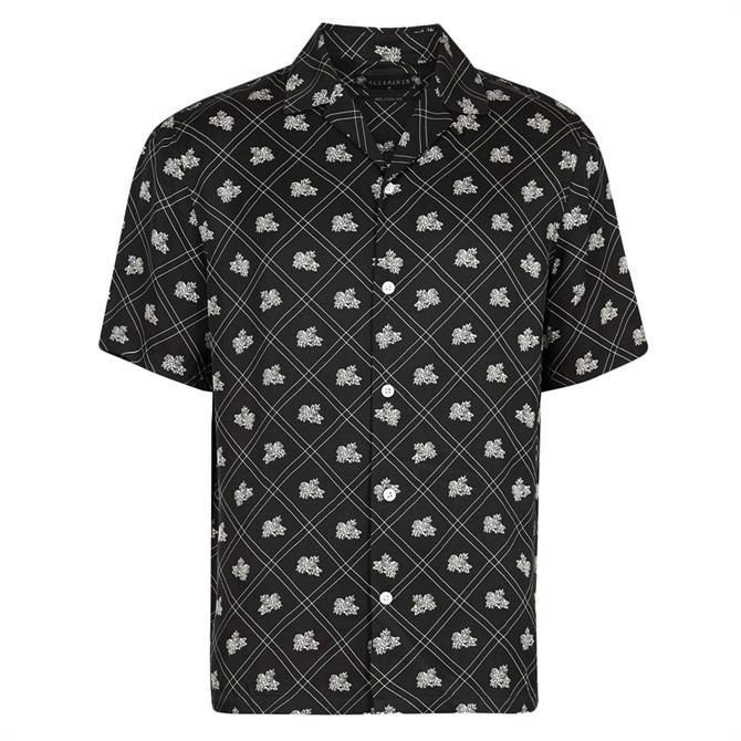 AllSaints Rose Check Short Sleeved Shirt