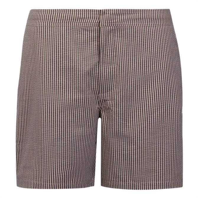 AllSaints Seersucker Pinstripe Swim Shorts