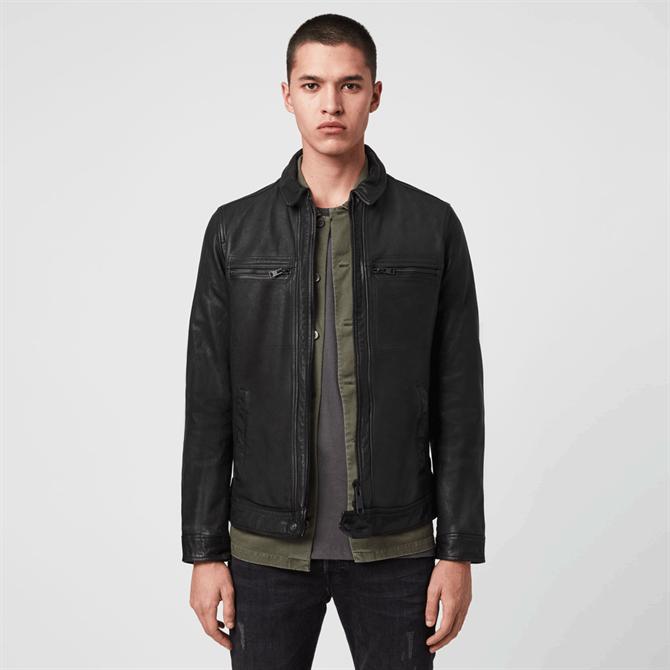 AllSaints Lark Black Leather Jacket
