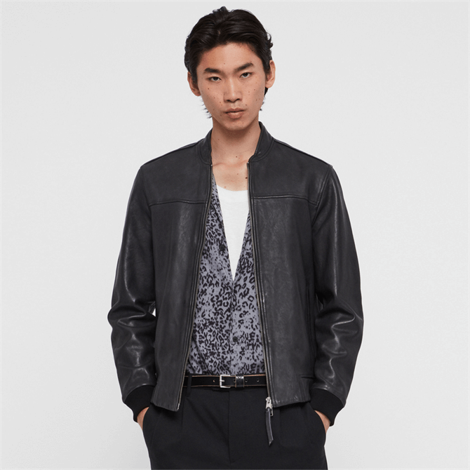 AllSaints Marsh Leather Jacket