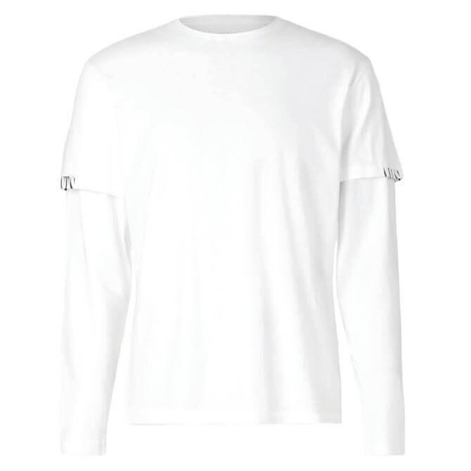 AllSaints Haven White Crew Layered T-Shirt