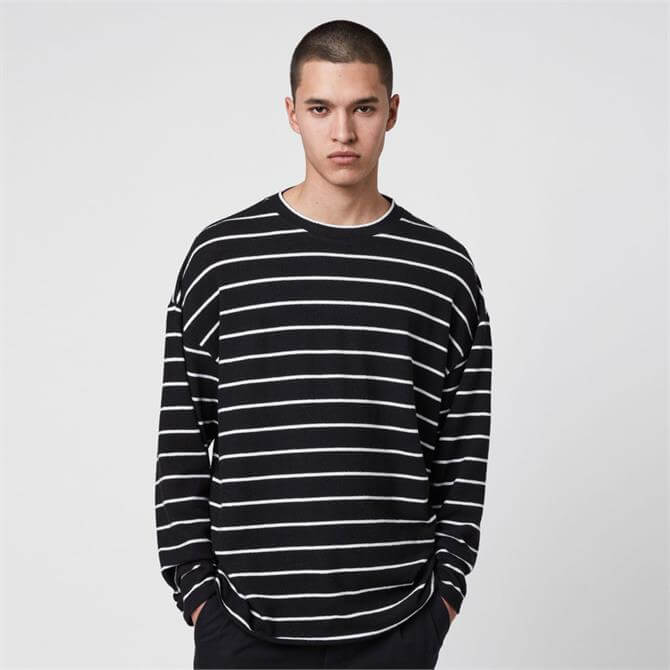 AllSaints Tobias Long Sleeve Crew T-Shirt