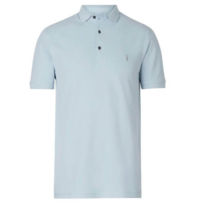 AllSaints Reform Short Sleeve Blue Polo Shirt