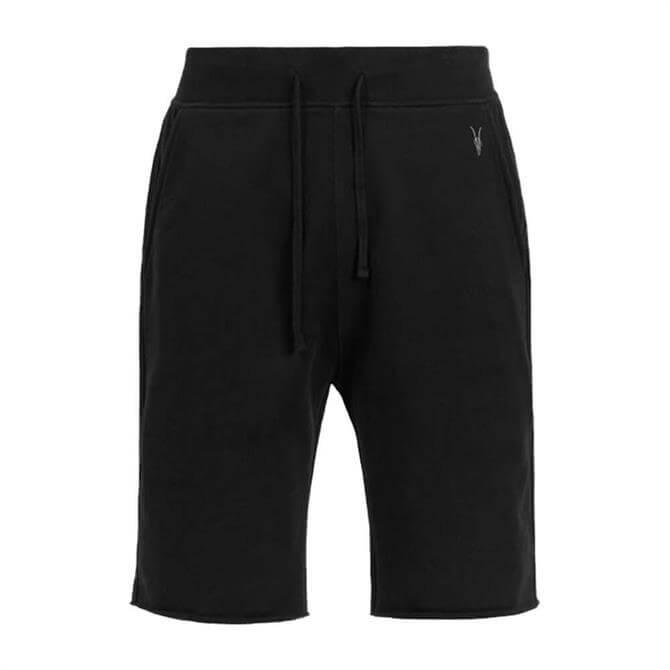 AllSaints Black Raven Jersey Shorts