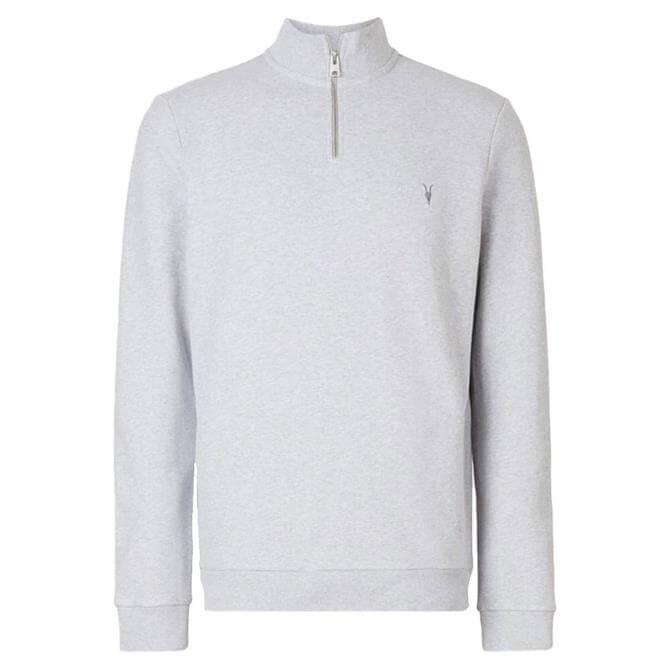 AllSaints Grey Raven Half Zip Funnel Sweatshirt