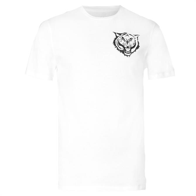 AllSaints Tigr White Crew T-Shirt