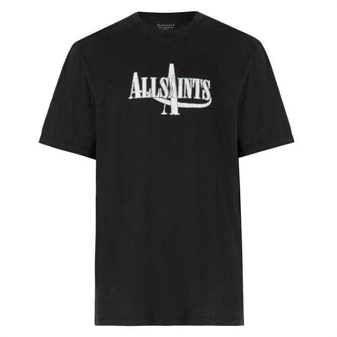 AllSaints Moto Logo Graphic Crew T-Shirt