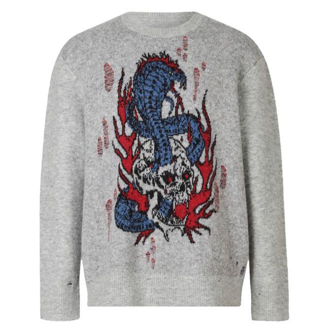 AllSaints Viper Saints Crew Sweater