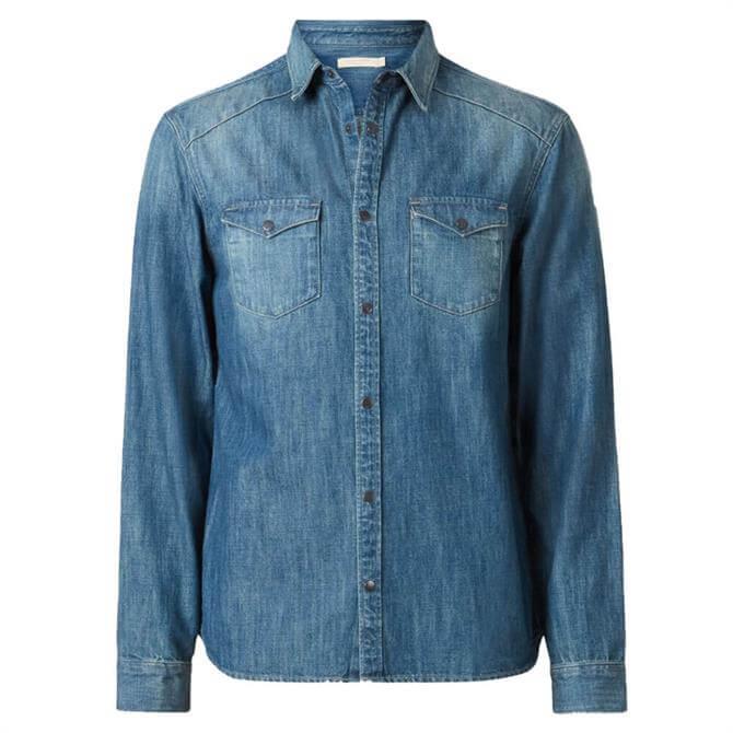 AllSaints Denning Dark Indigo Shirt
