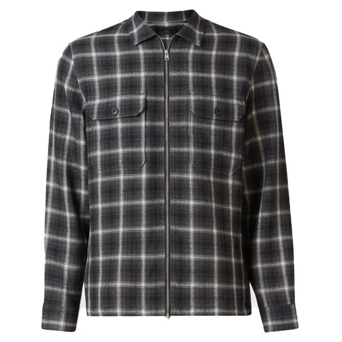 AllSaints Shoreham Check Print Overshirt