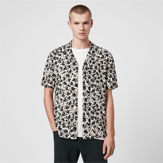 AllSaints Heartbreak Print Short Sleeve Shirt