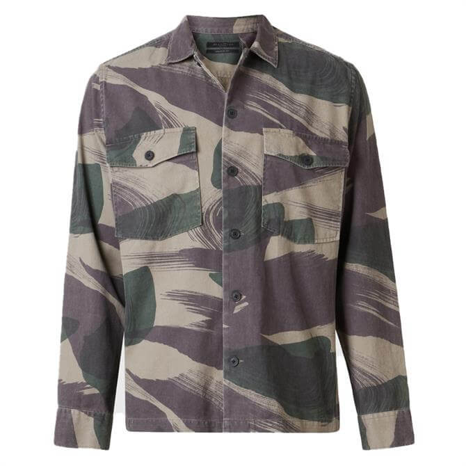 AllSaints Section Camo Long Sleeve Shirt