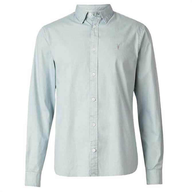 AllSaints Blue Huntingdon Slim Fit Shirt