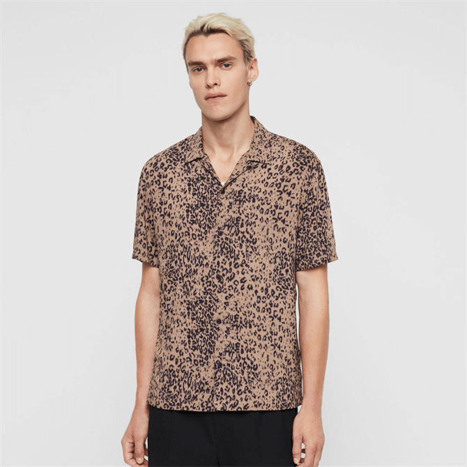 AllSaints Patch Short Sleeve Shirt