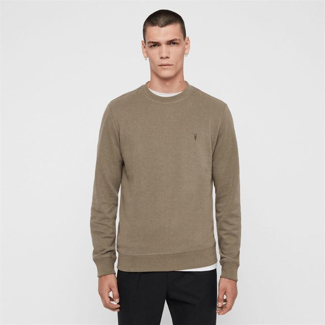 AllSaints Raven Sweatshirt Beech - Green Marle