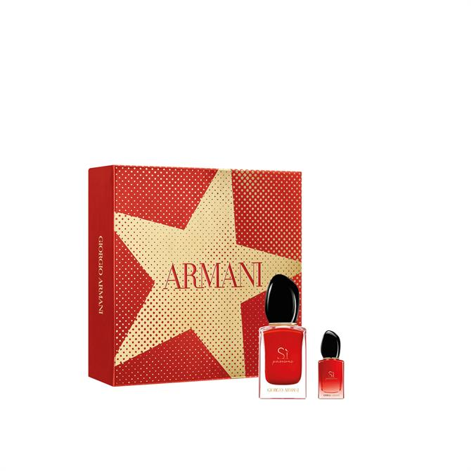 Armani Sì Passione Eau de Parfum 30ml Christmas Gift Set for Her + Mini Spray