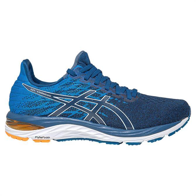 Asics Men's GEL-CUMULUS 21 Knit Running Shoe – Mako Blue/White