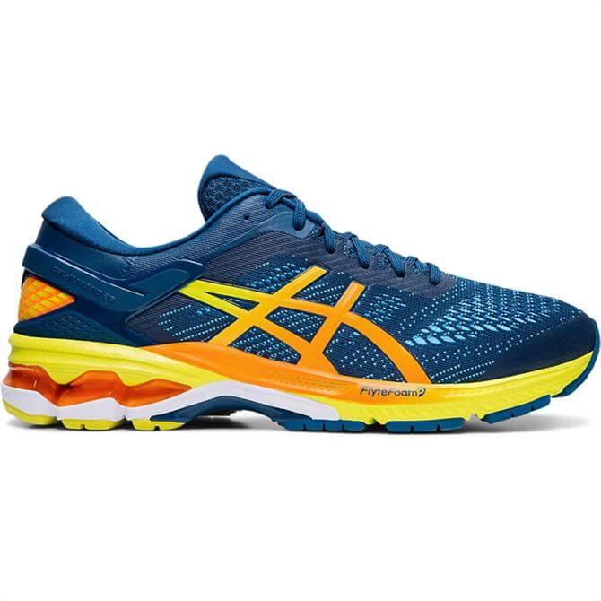 Asics Men's GEL-KAYANO 26 Running Shoe - Blue/Yellow
