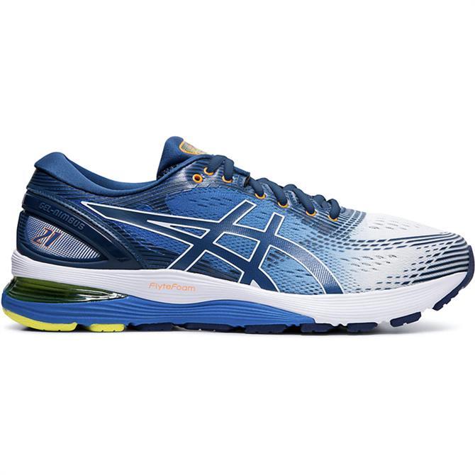 Asics Men's GEL-NIMBUS 21 Running Shoe – Blue/White