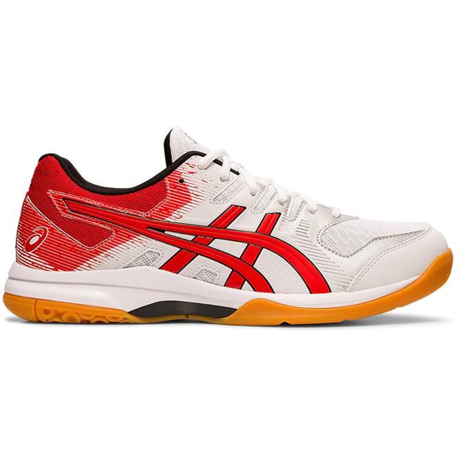 Asics Men's GEL-ROCKET 9 Indoor Court Shoe - White/Red