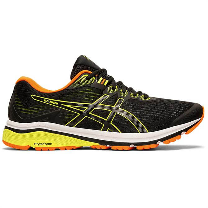 Asics Men's GT-1000 8 Running Shoe - Black/Yellow