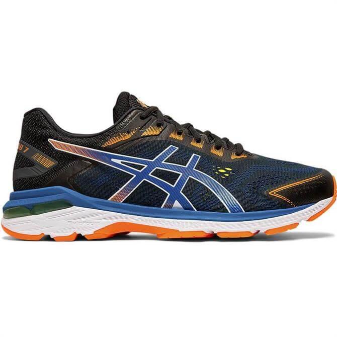 Asics Men's GT-2000 7 Running Shoe - Black/Blue