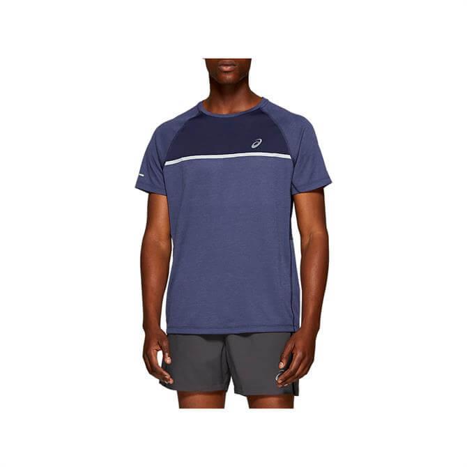 Asics Men's Short Sleeve Top - Navy/Blue