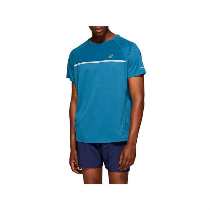 Asics Men's Short Sleeve Top - Blue/Blue