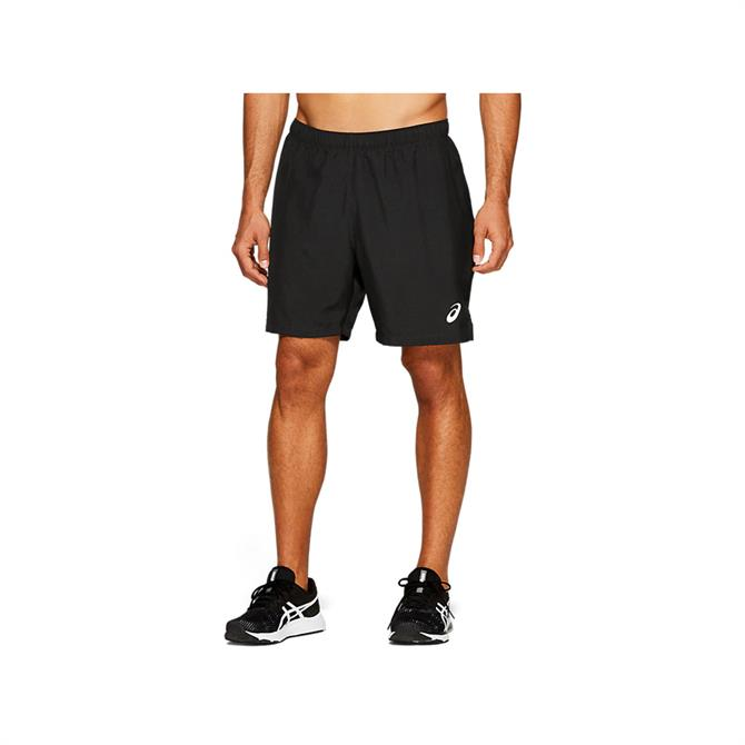 Asics Men's Silver 2-N-1 7 Inch Shorts - Black