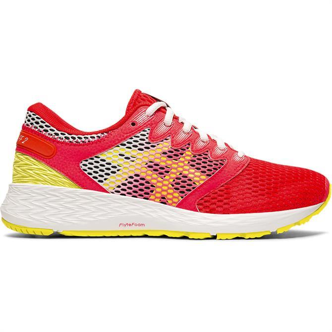 Asics Men's RoadHawk FF 2 Running Shoe - Pink/Yellow