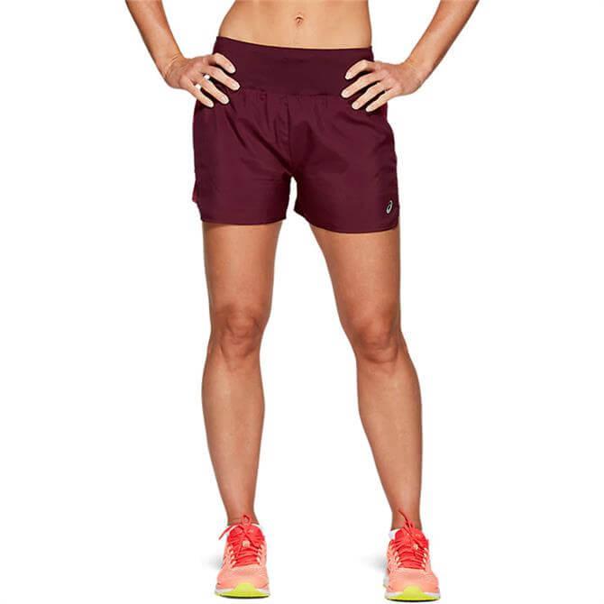 Asics Women's 3.5 In Shorts - Burgundy