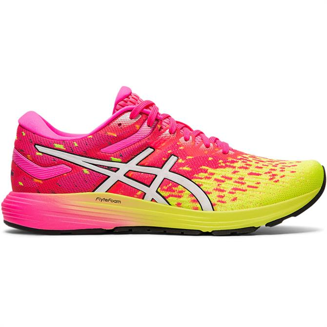 Asics Women's Dynaflyte 4 Running Shoe – Pink/Yellow
