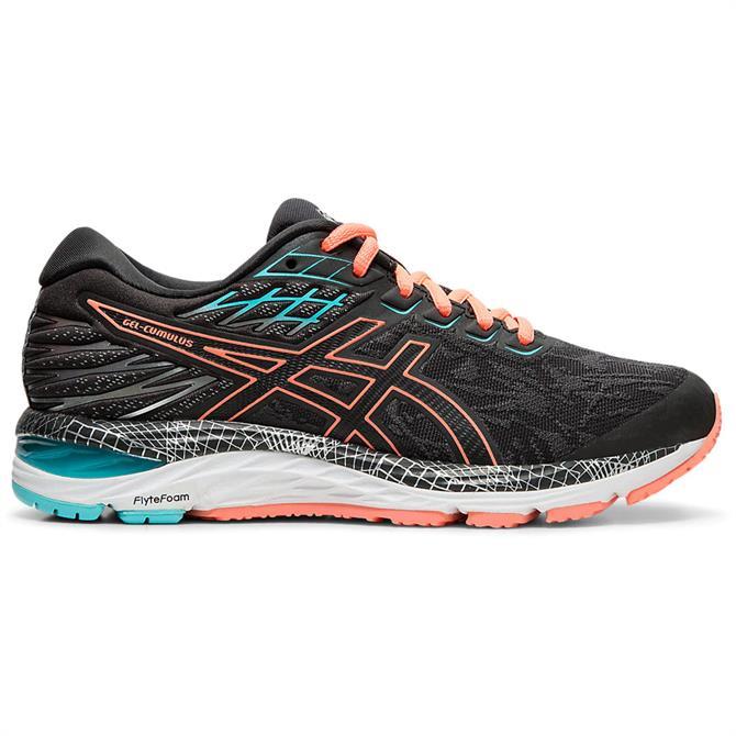 Asics Women's GEL-CUMULUS 21 Running Shoe - Graphite/Coral