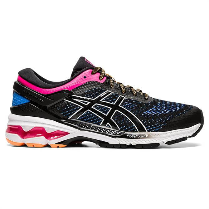 Asics Women's GEL-KAYANO 26 Running Shoe - Black/Blue Coast