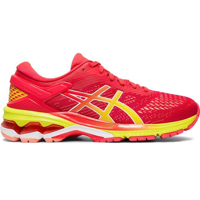 Asics Women's GEL-KAYANO 26 Running Shoe - Pink/Yellow