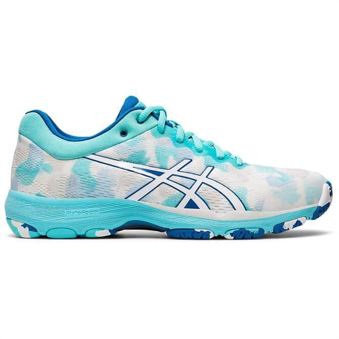 Asics Netburner Professional FF Women's Netball Shoe - White/Blue