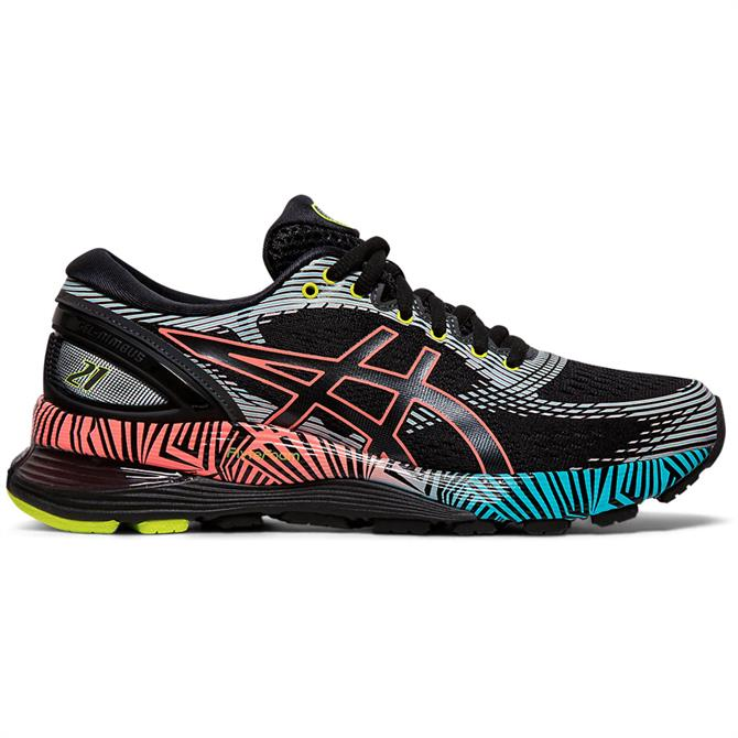 Asics Women's GEL-NIMBUS 21 LS Running Shoe – Black/Coral