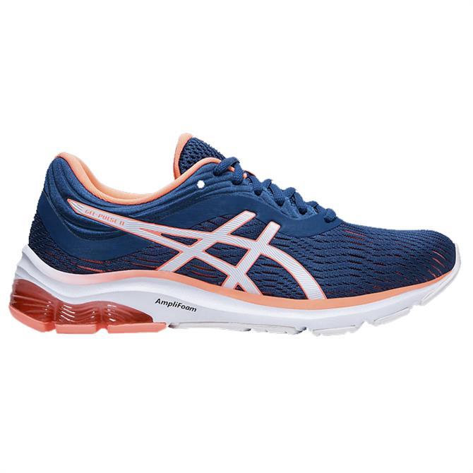 Asics Women's GEL-PULSE 11 Running Shoe – Navy/Orange