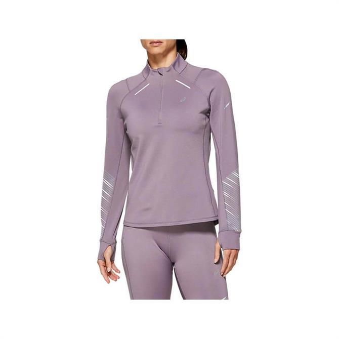 Asics Women's Lite Show 2 Winter 1/2 Zip Top - Lavender Grey