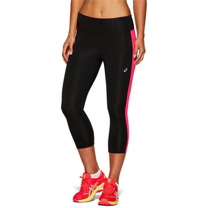 Asics Women's Running Capri Tight - Black/Pink