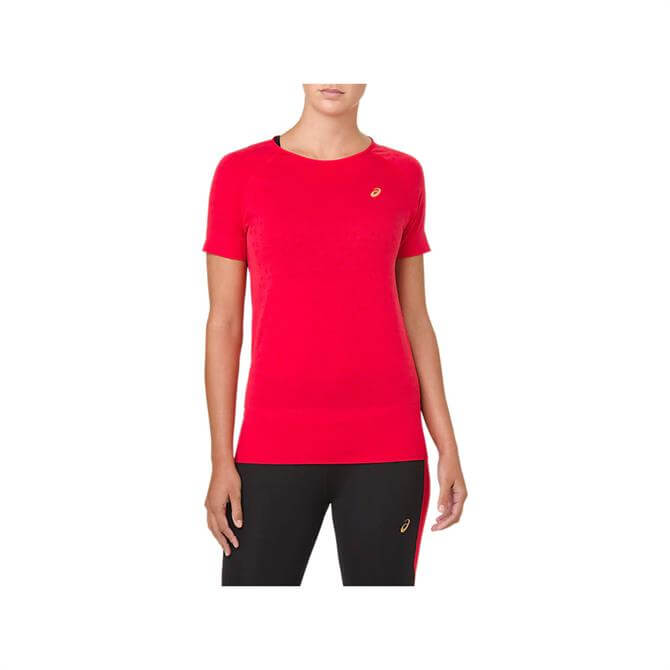Asics Women's Seamless Short Sleeve Running Top - Red