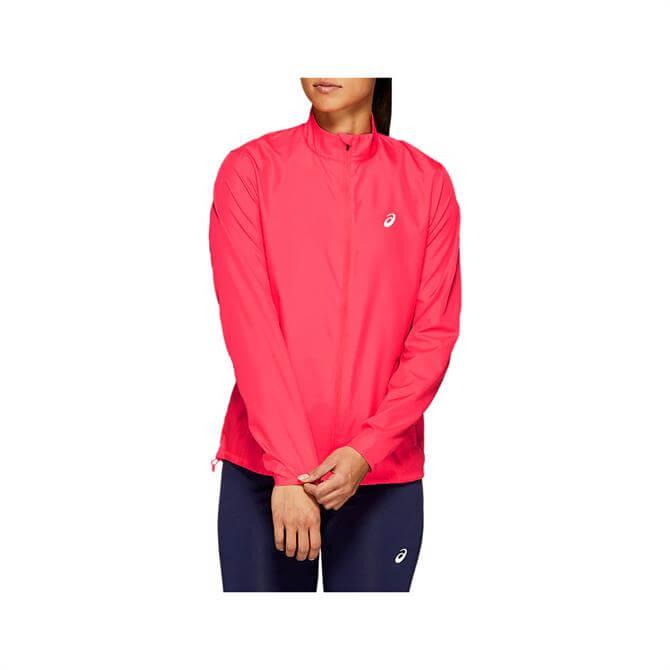 Asics Women's Silver Running Jacket - Pink