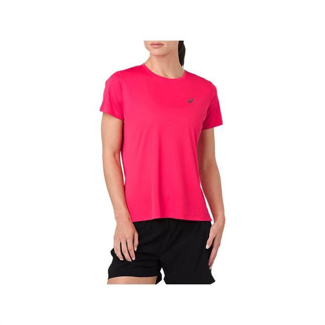 Asics Women's Silver Short Sleeve Top - Pink