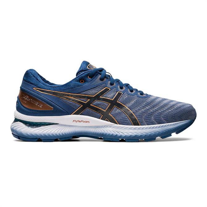 Asics Men's GEL-NIMBUS 22 Running Shoe - Grey/Blue