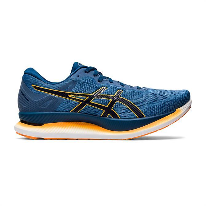Asics Men's GLIDERIDE Running Shoe - Blue/Yellow