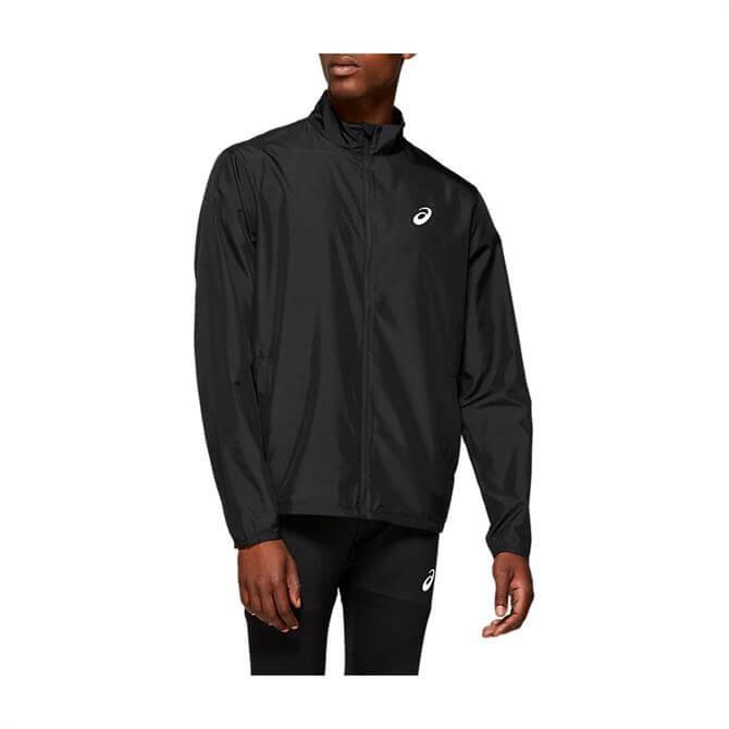 Asics Men's Silver Running Jacket - Black