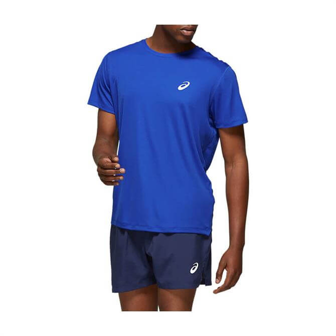 Asics Men's Silver Short Sleeve Top