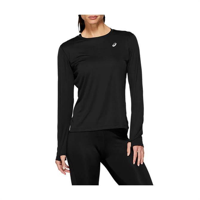 Asics Women's Silver Long Sleeve Top - Black