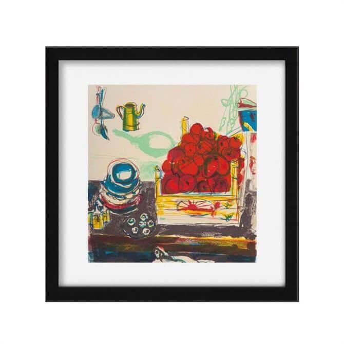 Tomatoes by Chloe Cheese Print Black Frame