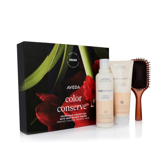 Aveda Colour Conserve Shampoo & Conditioner + Mini Paddle Brush Gift Set
